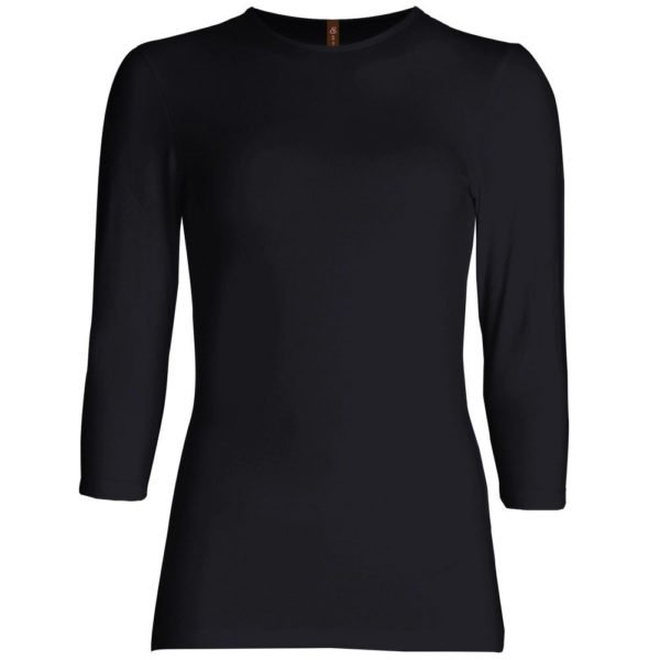 Three Quarter Sleeve Layering Top (Black) – Wrapunzel