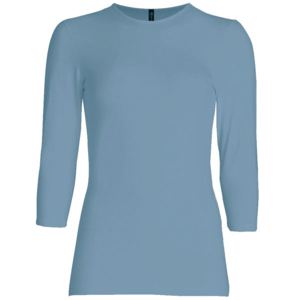 Three Quarter Sleeve Layering Top (Blue) – Wrapunzel
