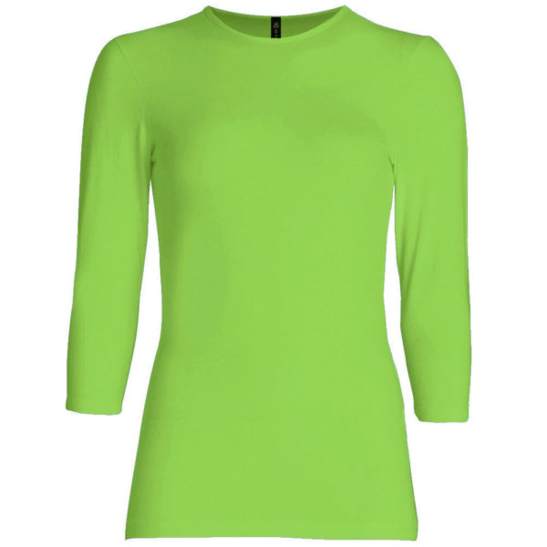 Three Quarter Sleeve Layering Top (Lime Green) – Wrapunzel