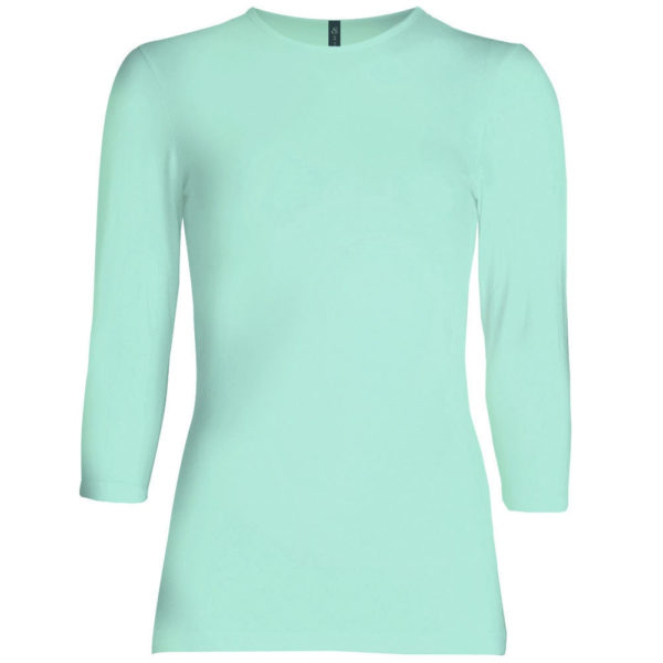 Three Quarter Sleeve Layering Top (Mint) – Wrapunzel