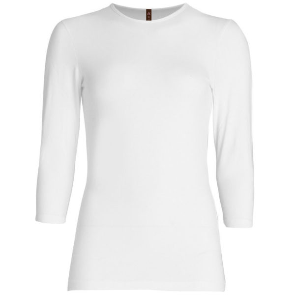 Three Quarter Sleeve Layering Top (White) – Wrapunzel