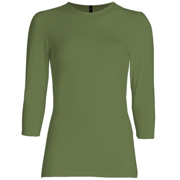3/4 sleeve layering top – olive
