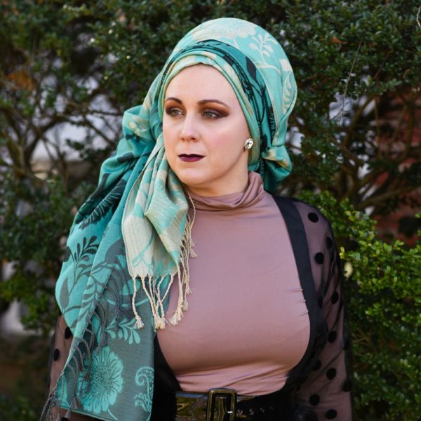 Tiers of Teal Scarf 2 – Wrapunzel