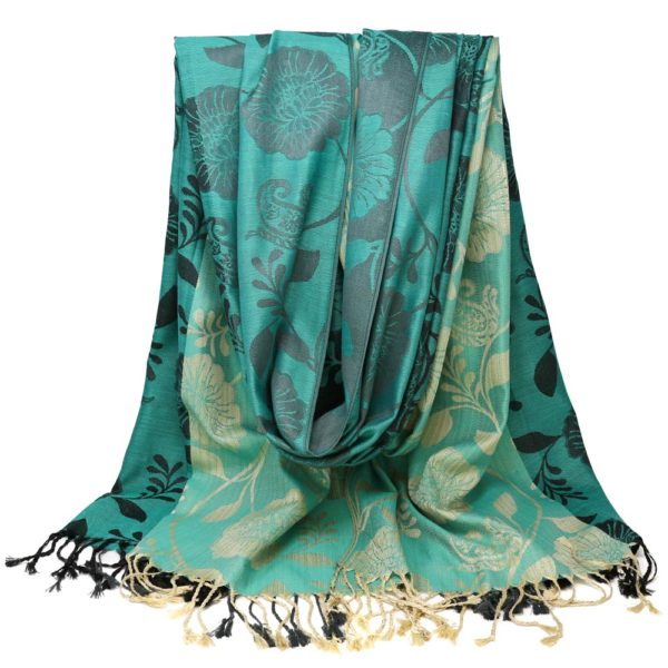 Tiers of Teal Scarf 3 – Wrapunzel